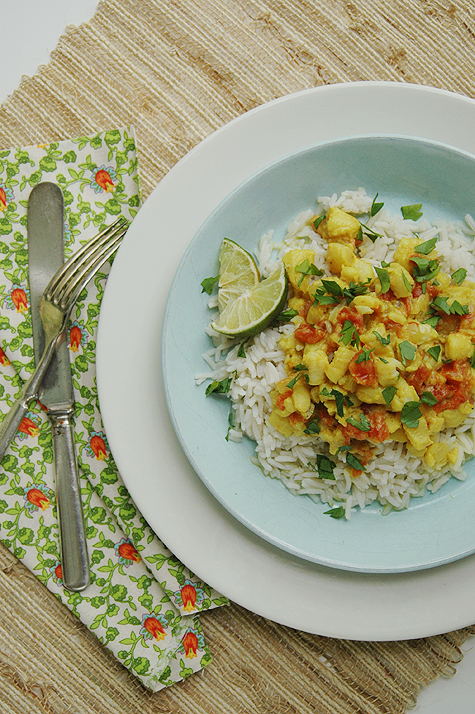 coconut-lime fish curry